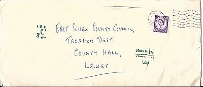 1962 Cover to East Sussex County Council. Superb Array of Postage Dues