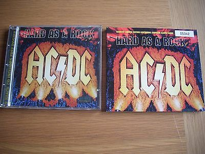 ac/dc hard as a rock cd singles with mini poster and album cards 1995