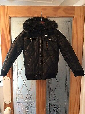 river island faux leather jacket 5-6 yrs