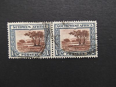 South West Africa - George V 1931 Pair Of One Shilling Used