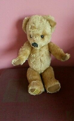 Vintage Teddy Bear made by Merrythought of Ironbridge, Shropshire.