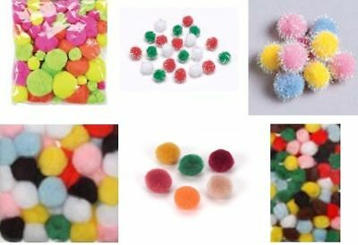 Darice Acrylic Pom-Poms various colours and sizes available