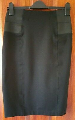 Mamas and Papas BLACK MATERNITY SKIRT Size 6 RRP £34