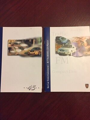 ROVER 45 HANDBOOK + AUDIO GUIDE years 1998    2001 in good condition