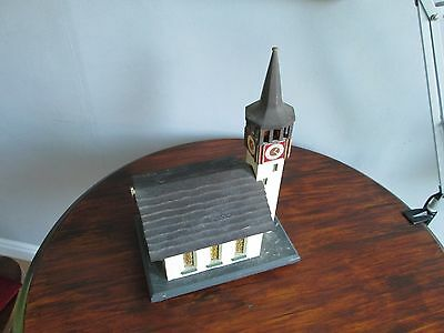 Model Church Wooden Vintage Old Wood Rare Quality Building Antique Mediterranean