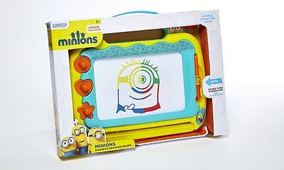 Minions Magnetic Colour Scribble Board + 3 Magnets & Stand Despicable Me 28-0132