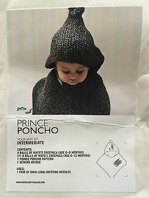Wool and The Gang Moon Prince Poncho kit, in Purple Haze, for age 6-12 months