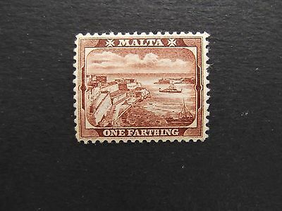 Malta - Victoria 1901 One Farthing Mounted Mint