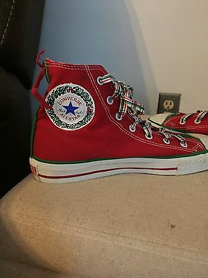 Vintage Made in the USA Converse All Star Chuck Taylor Christmas Edition