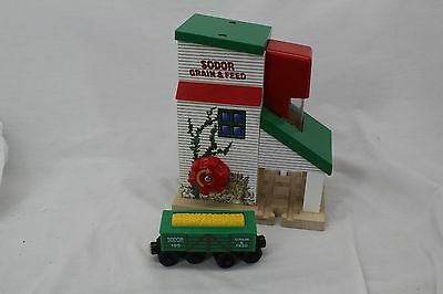 Thomas Wooden Train Learning Curve Grain Loader with grain car, Retired, 99331