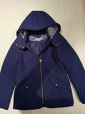 Girls Joules quilted jacket age 11-12 years