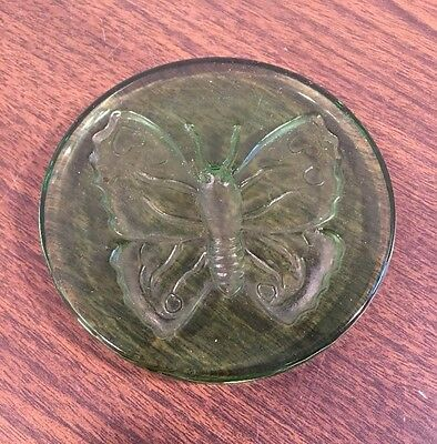 Vintage Pressed Glass Butterfly Paperweight