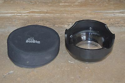 ikelite 5503 underwater camera housing wide dome port, vgc + cover, cost £200