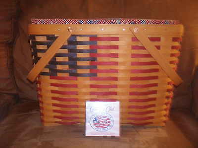 Longaberger 1998 Collector's Club 25th Anniversary Basket Set with Tie-On