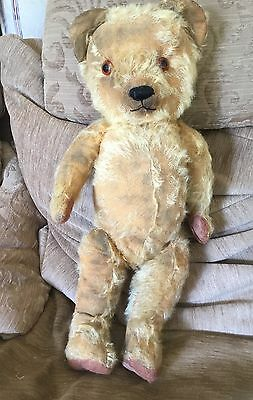Archie - Antique, Vintage, Old Growler Mohair Teddy Bear - Merrythought?