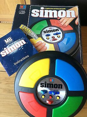 Simon Retro Computer Controlled Game Mb  Boxed Instructions  Electronics Vintage