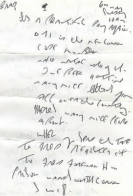 REG KRAY COPY OF LETTER to HIS SON  - CRIME
