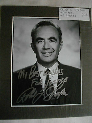 Robert Shapiro Autographed Mounted Photo Defended O J Simpson