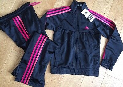 BNWT Girls Adidas Tracksuit Jacket & Pants  7-8 years