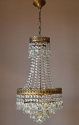 Ornate Christmas Antique French Vintage Crystal Chandelier Lamp Lighting Lustre