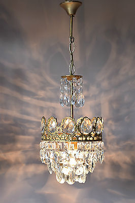 Home Lights Antique French Vintage Crystal Chandelier Lamp Old Lighting Lustre