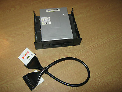 Sony Floppy Disk Drive + 5.25 Drive Bay + Akasa Rounded FDD Cable