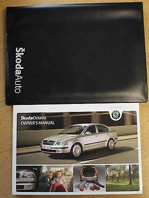 Skoda Octavia Ii Handbook Owners Manual Wallet 2004-2009 Pack 12380