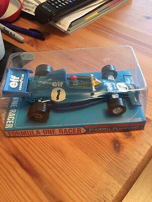 Lucky Toys Made In Hong Kong Tyrell Formula 1 Friction Powered Racer