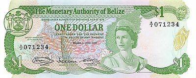 Belize  $1  1.6.1980  Series A/3  circulated Banknote NS27