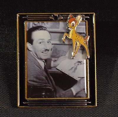 Disney World Pin 2002 Bambi with Walt Framed Series #6 LE 5,000