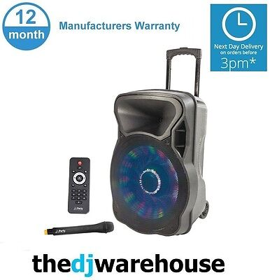 Party Sound & Light Party-15 LED Portable Speaker System USB-Bluetooth-SD player