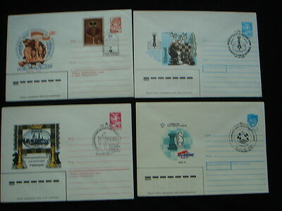 25 postmarked covers / soviet union /chess