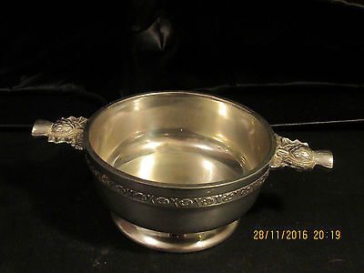 Pewter Quaich With Thistle Pattern And Celtic Knot