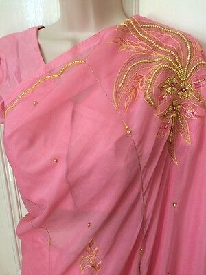 Pink Sari With Stitched Blouse - Size 8/10 - Reduced