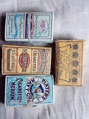 Old Cigarette Boxes Players Gold Flake Wills