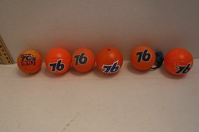 Lot of 6 Different 76 Union Gas Orange Ball Antenna Toppers NASCAR Refueling