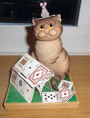 Border Fine Arts - Comic & Curious Cats Series - 'House Of Cards'