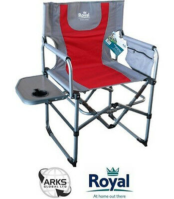 Royal Compact Directors Camping Chair - Red or Black