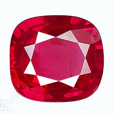 16.10 Cts STUNNING SPINEL RED RUBY CUSHION FACET LAB CORUNDUM