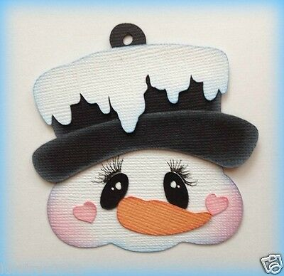 Snowman Tag Christmas Paper Piecing Premade  My Tear Bears Kira