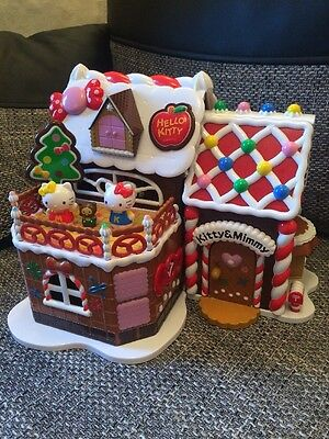 Hello Kitty Gingerbread Christmas Playhouse Set With Furniture And Extras