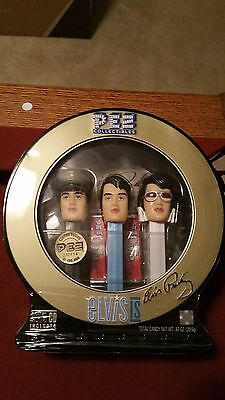 Elvis Presley Pez Collection, Limited Edition,  (3) /cd In Tin, Never Opened