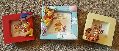 Disney Set of 3 Small Winnie the Pooh Resin Picture Frames - Pooh/Tigger/Piglet