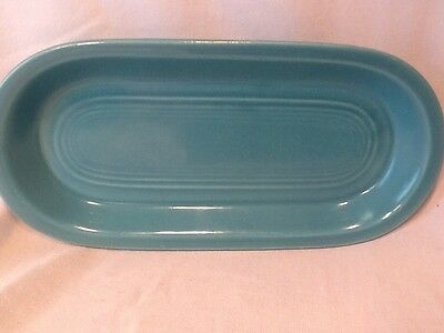 Rare VINTAGE Fiesta ware Wet Foot Utility Tray Stamped 33 Fiestaware Turquoise