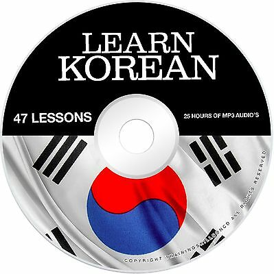 Learn To Speak Basic Korean Language Audio MP3 + E Book PDF Lessons on CD