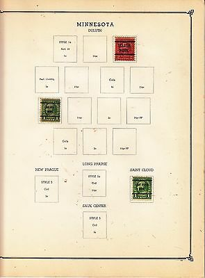 UNITED STATES OF AMERICA Saint Cloud Pre-cancels on Page Removed for Shipping