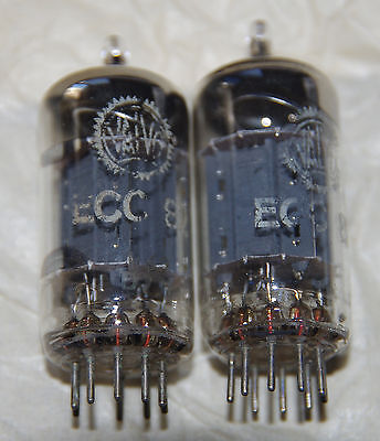 2x ECC82 / 12AU7 Valvo  - test like new - perfect matched pair from 1957