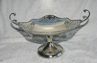 Stunning Vintage Silver Plated  Centerpiece Tazza  Cake / Fruit Stand