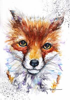 A4 PRINT of an Original Watercolour Painting by Be Coventry,Realism,Fox