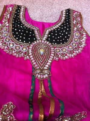 Pink & Green Anarkali Suit - Size 10 - Brand New